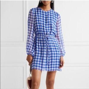 Diane Von Furstenberg Gingham silk chiffon dress